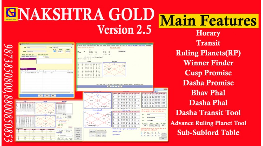 NAKSHTRA GOLD SOFTWARE 2.5 UPDATED VERSION IS RELEASED WITH LATEST TOOLS BY DR. YAGYADUTT SHARMA